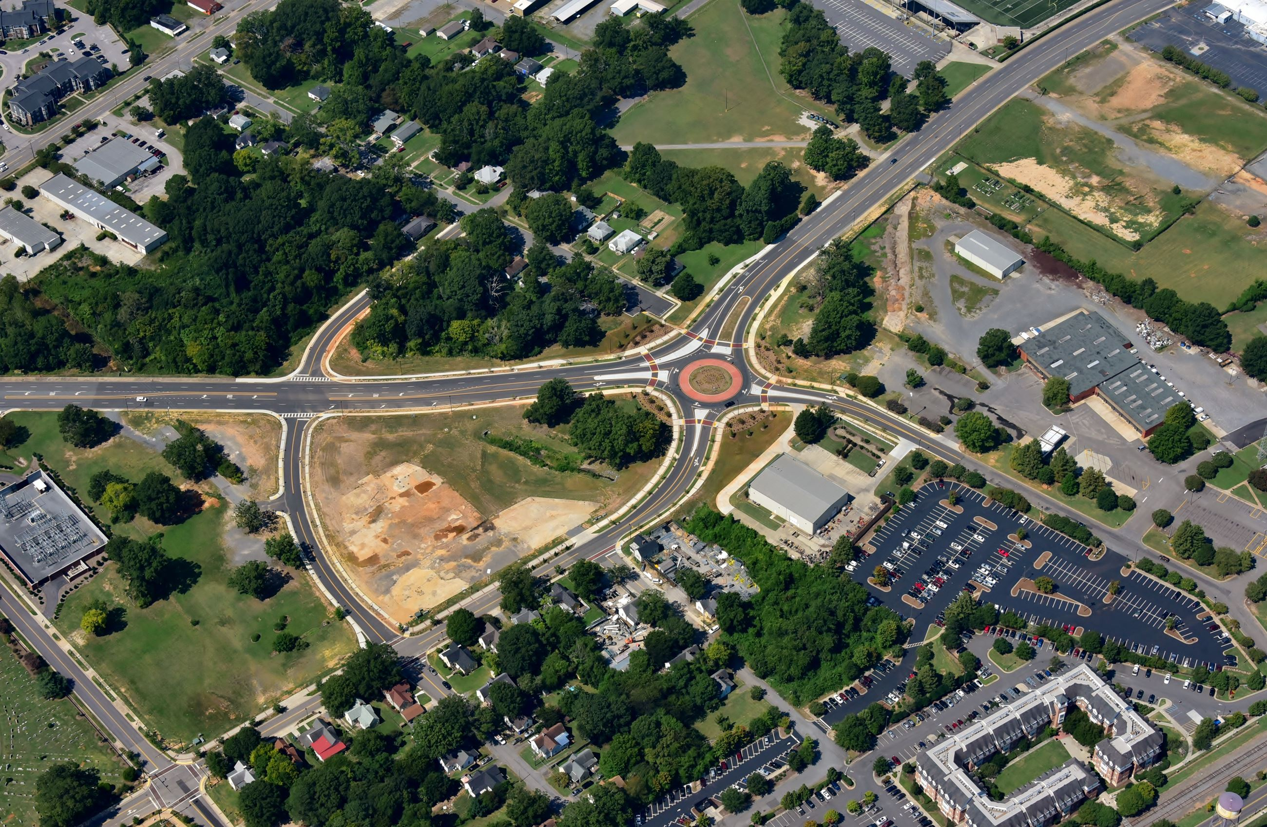 White St. Roundabout overhead picture