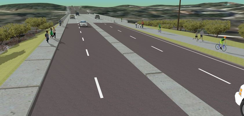 rendering of a proposed road project